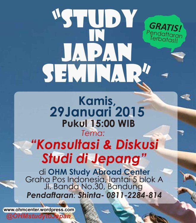 study in japan seminar 29 Januari 2015